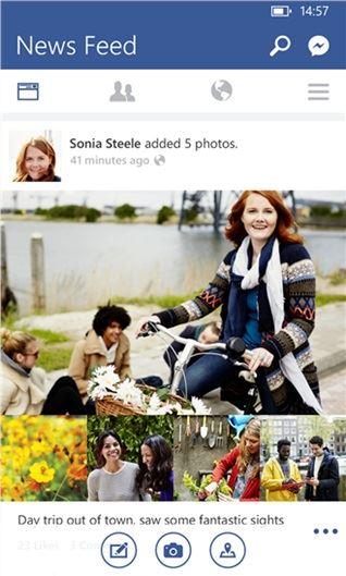 windows phone facebook