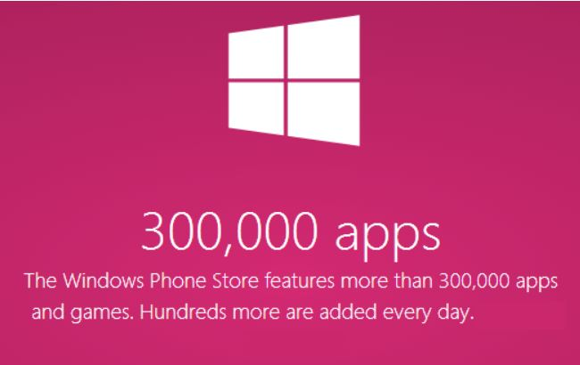 windows phone store 300 mil