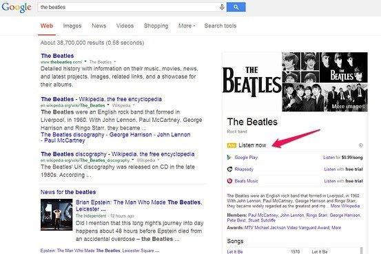 google pesquisa artistas