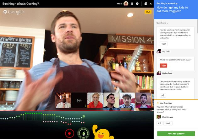 google hangouts applause