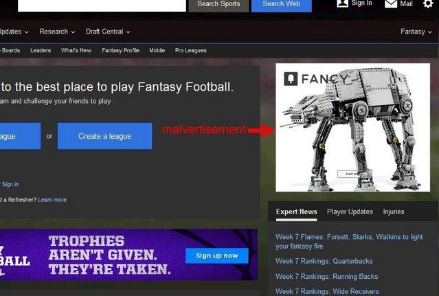 malware anúncios publicidade