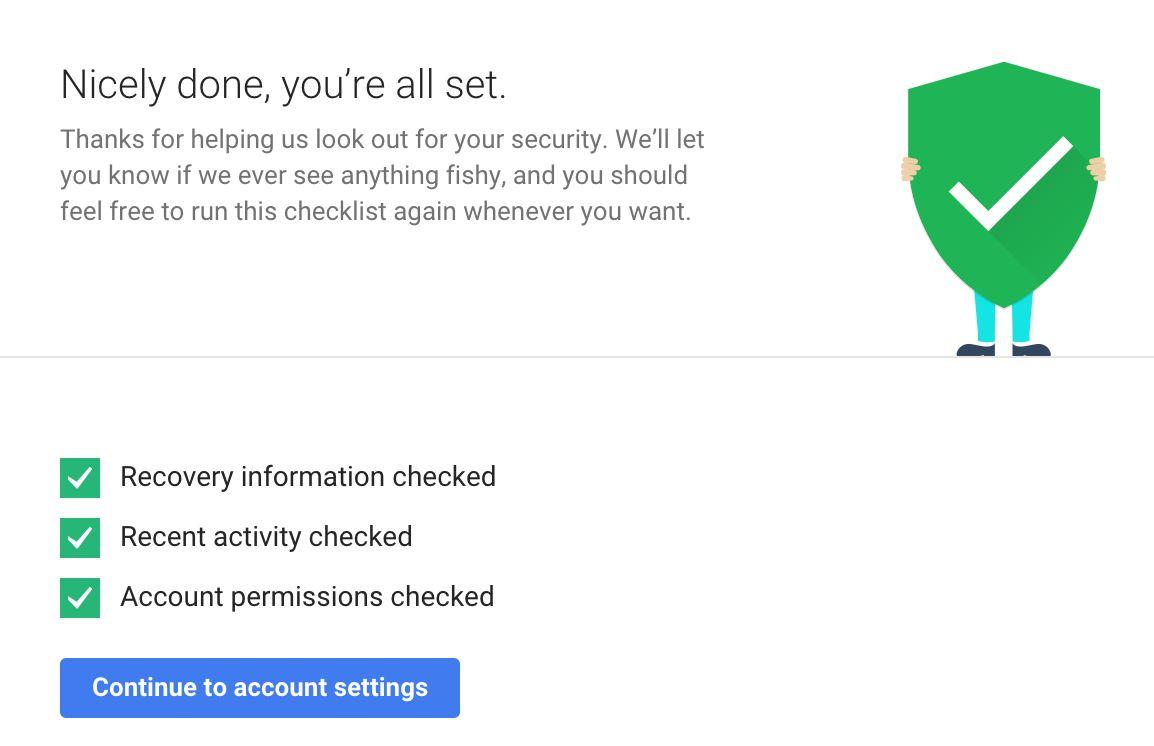 google verificação segurança