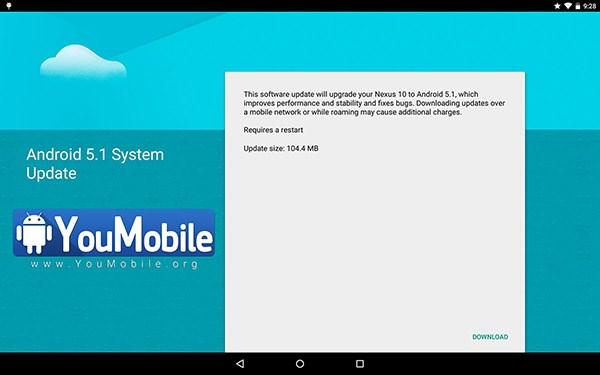 nexus 10 android upgrade
