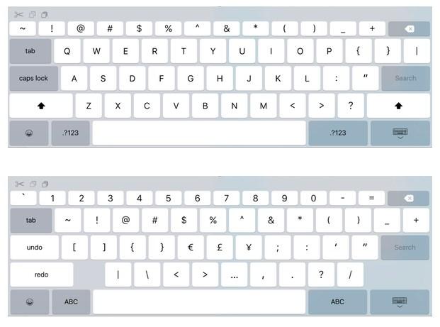 ios teclado 9