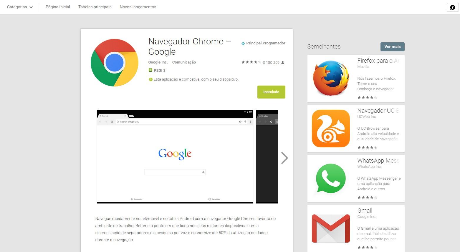 google play novo design