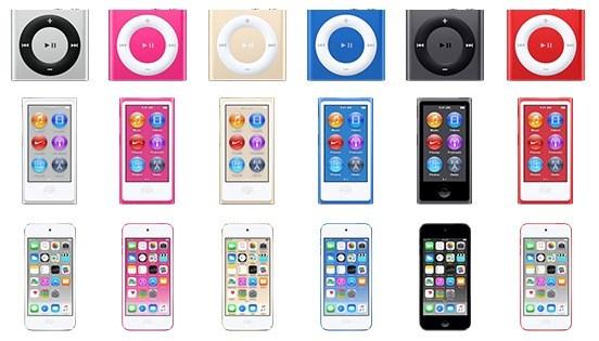 ipod novas versões