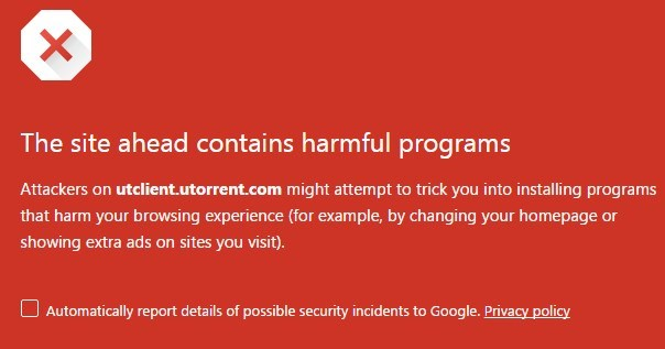 utorrent bloqueado