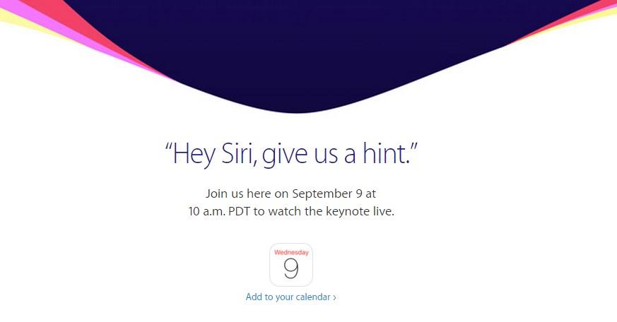 apple evento 9 setembro