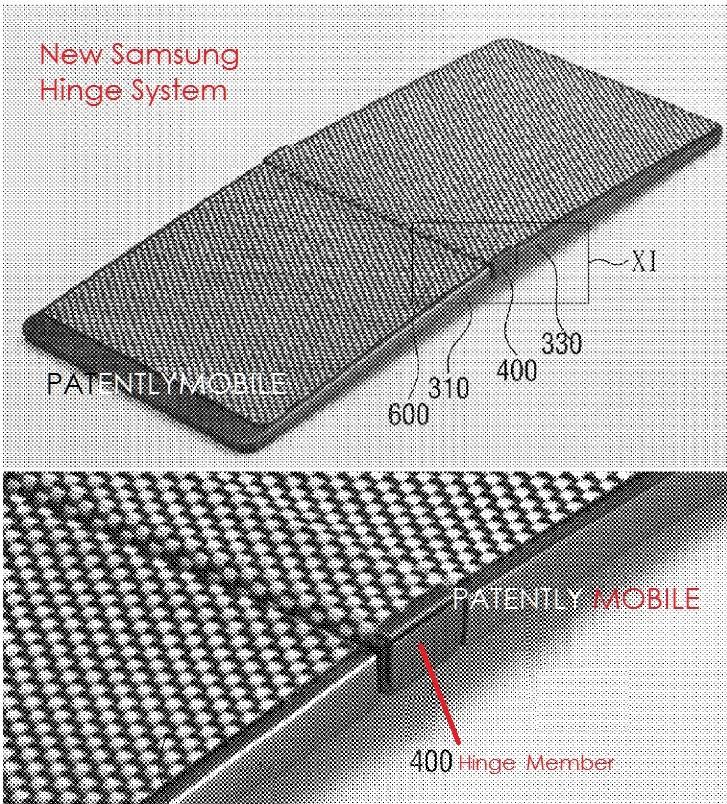 patente samsung dobravel ecrã