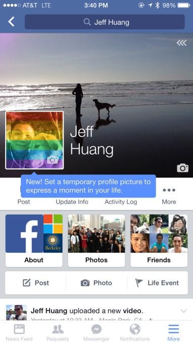 facebook imagem temporária