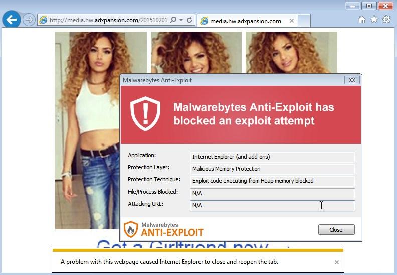 malwarebytes websites adulto