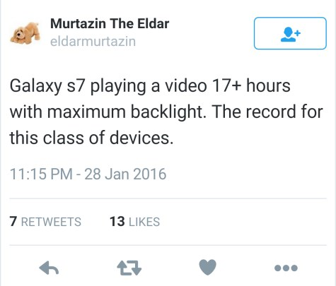 autonomia do Galaxy S7