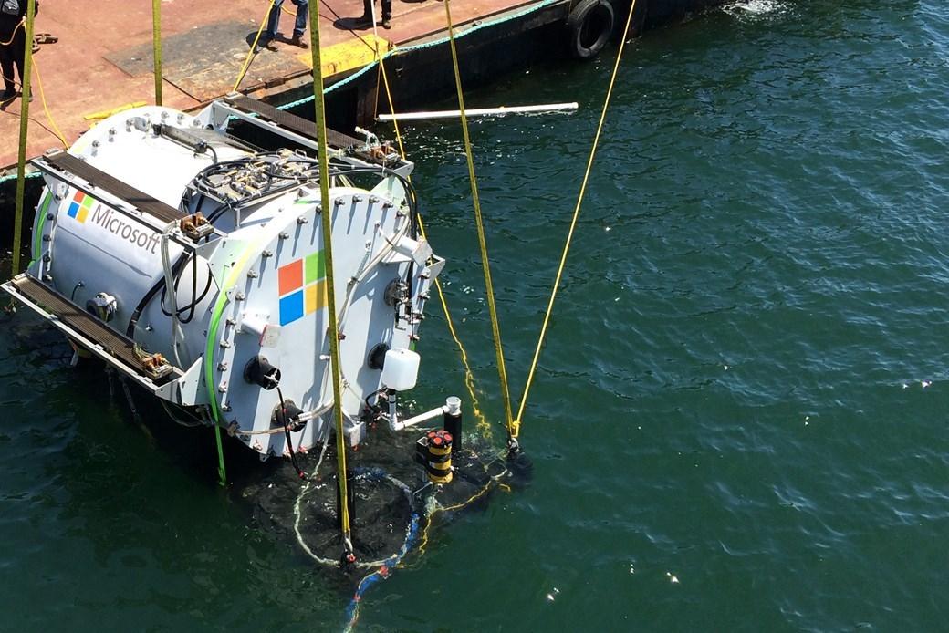 Microsoft debaixo de água