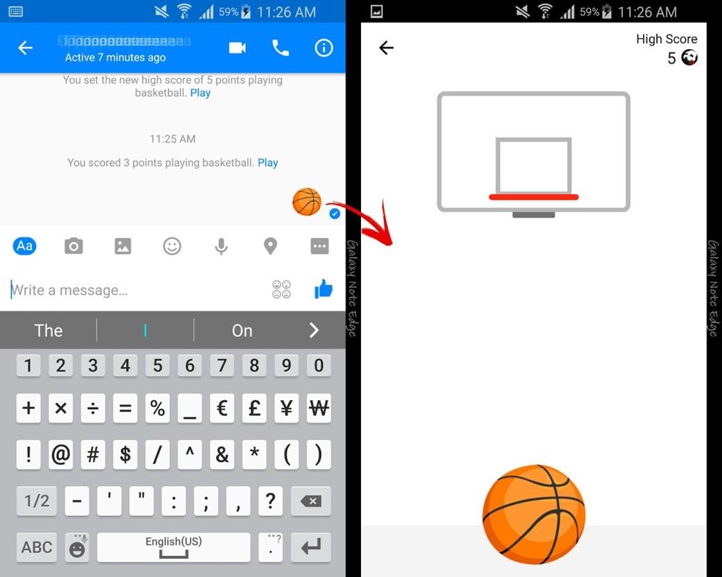 messenger facebook basket