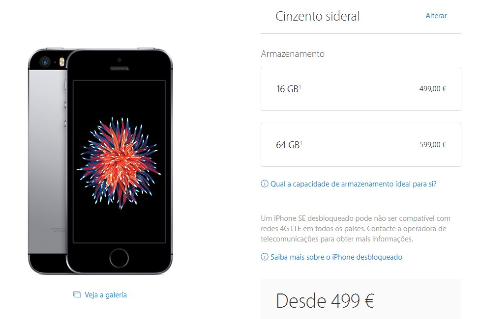 iphone se preço portugal
