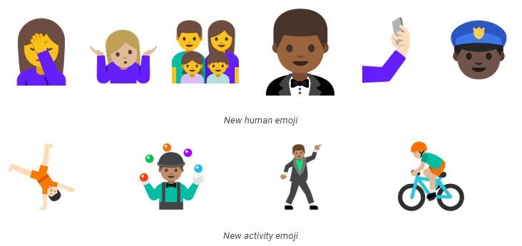Emojis na nova versão do Android N