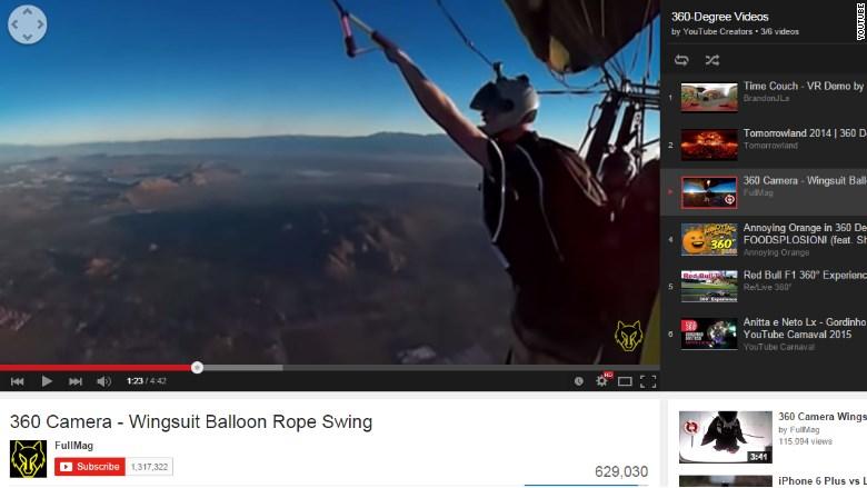Vídeo em 360 no Youtube