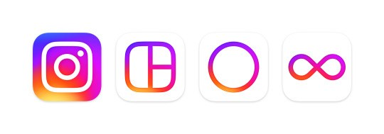 Novos logótipos do Instagram