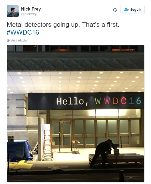 Twitter da entrada do WWDC