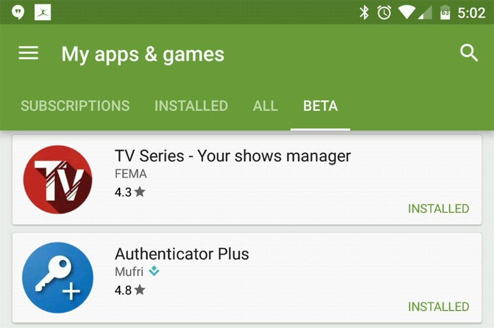 Google Play Beta