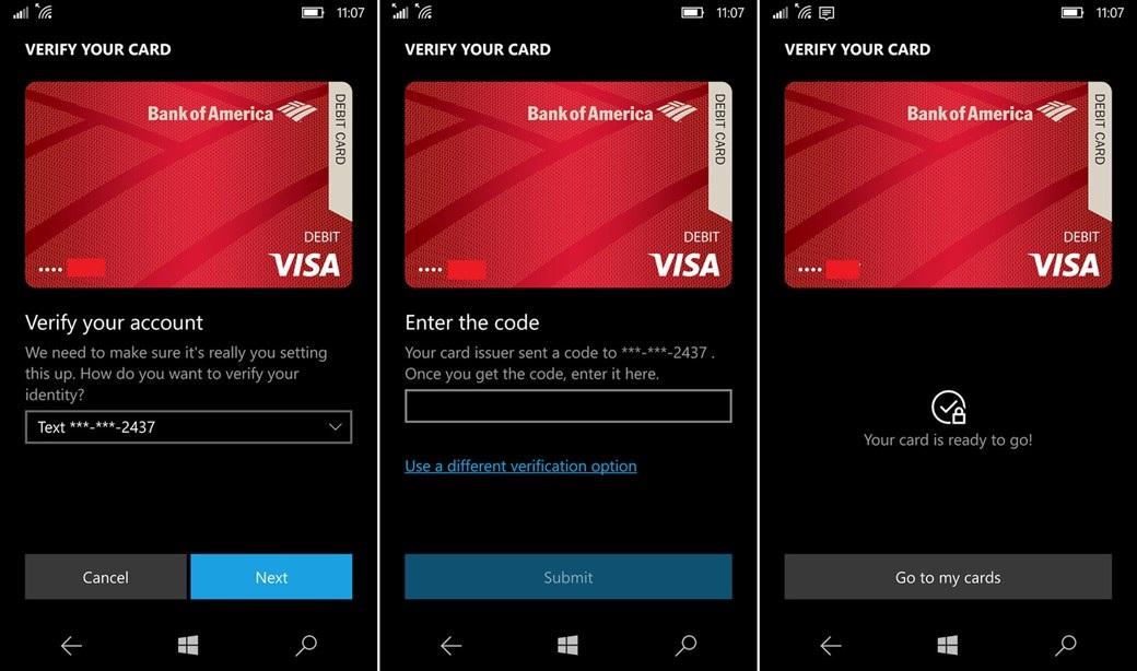 Windows 10 Mobile - Wallet
