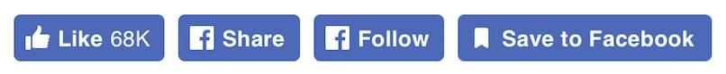 Botão gosto do Facebook