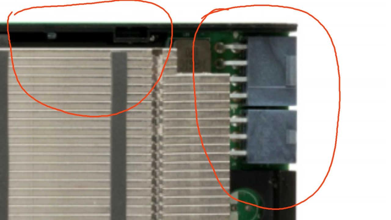 ligações de energia na GTX Titan P