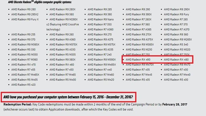 Listagem da placa no site da AMD