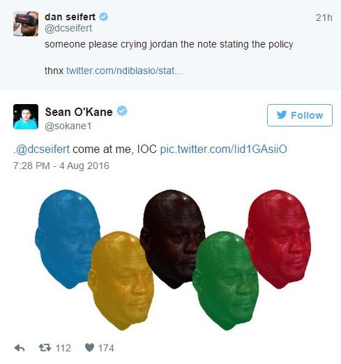 Twitter com imagem a contradizer Comité