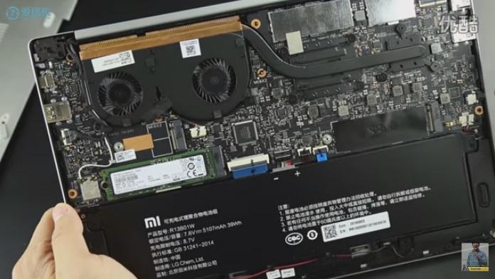 interior do Mi Notebook Air