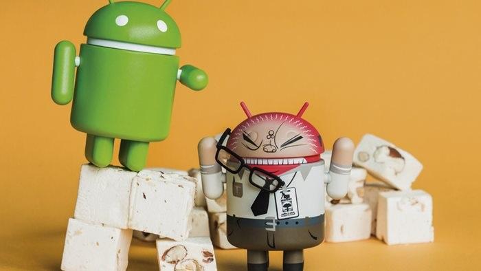 android nougat bonecos