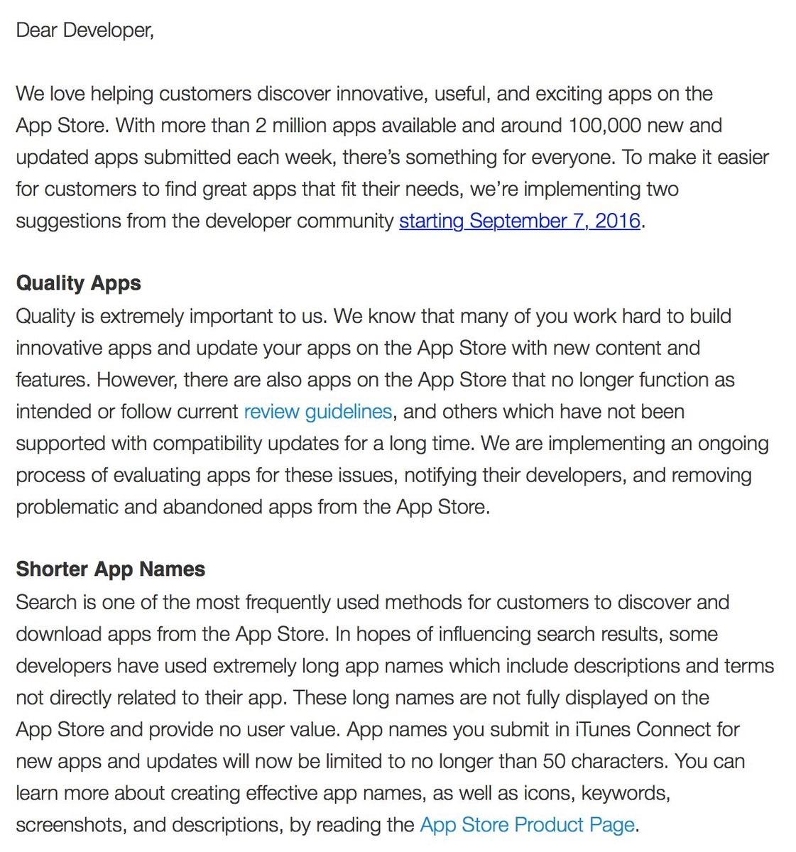 carta aos programadores da apple