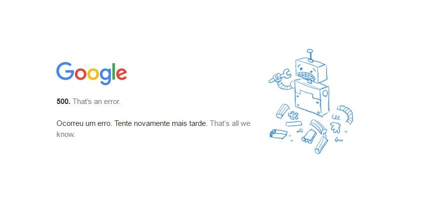 google plus erro 500