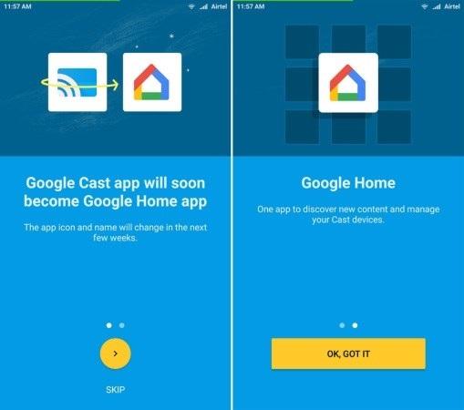 interface da nova aplicação