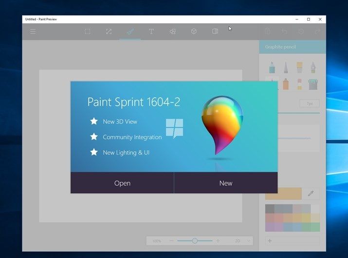 paint no windows 10