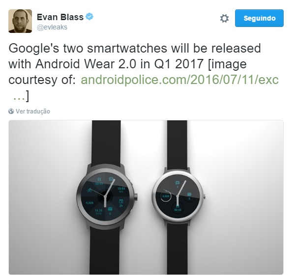novos smartwatches da Google