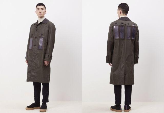 casaco com carregador solar