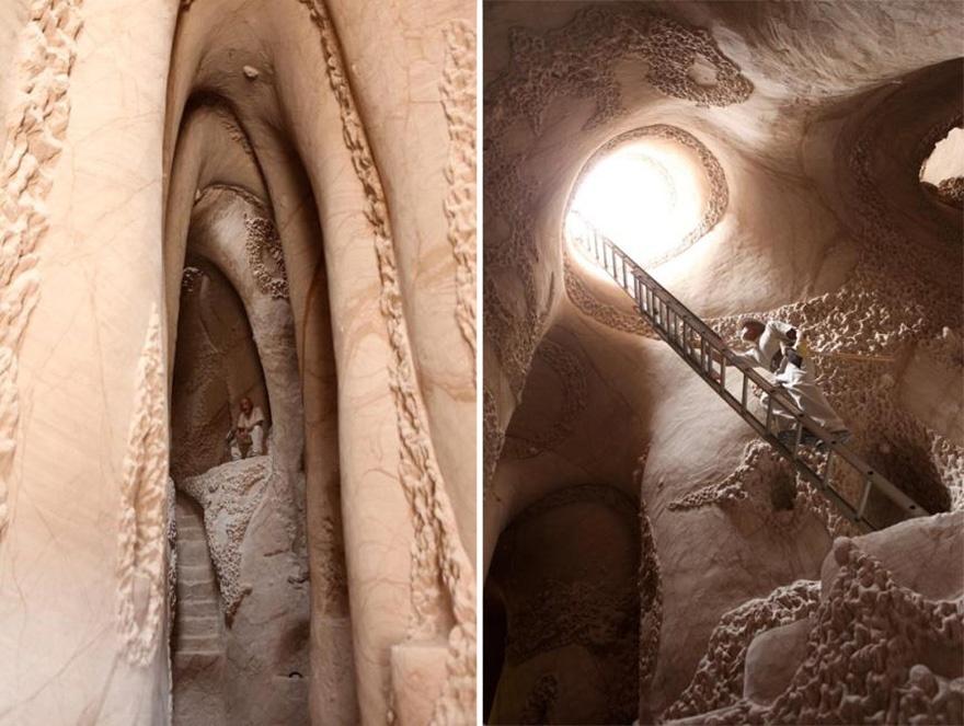 25 лет в полном одиночестве он создавал подземный сказочный мир 3220060-880-1445928006carved-cave-141