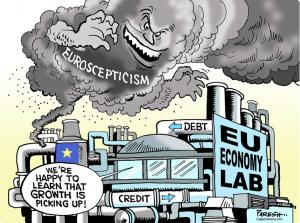 Питер Мейер - Брексит разрывает ЕС на части 4/6/2019 Euroscepticism-300x223