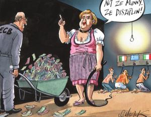 Питер Мейер - Брексит разрывает ЕС на части 4/6/2019 Merkel-Master-of-EU-universe-300x233