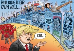 Питер Мейер - Эпоха политиков закончилась 10 сентября 2019 года Building-their-own-wall-300x209