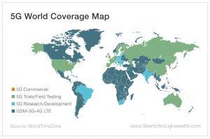 Питер Мейер - Технология 5G осуществляет контроль над живой материей 13 ноября 2019 года 5G_World_Coverage_Map-300x199