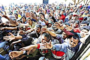 Питер Мейер - Кризис с мигрантами Feed-the-refugees-300x200
