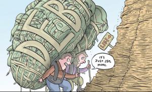 Питер Мейер - Великая Депрессия 2.0   Debt-based-spending-doesn%E2%80%99t-increase-wealth-300x182