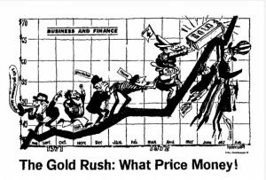Питер Мейер - Реальные деньги против криптовалют и фиатных денег Panic-gold-price-rises-300x203