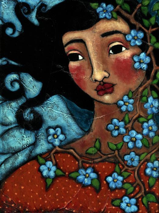 Zena na slikarskom platnu - Page 3 Flower-tree-angel-julie-ann-bowden
