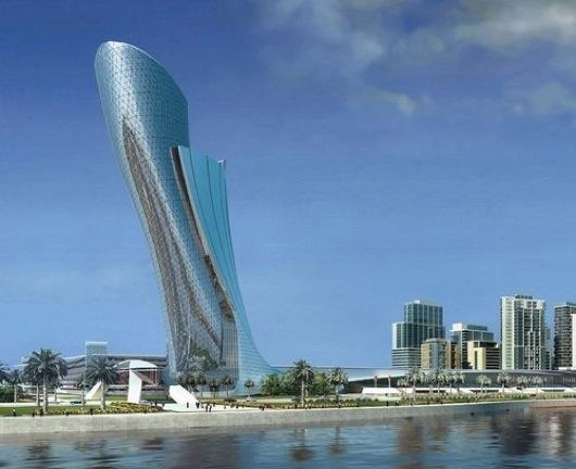 Matthias De Enoux (Steel Knight) Future-architecture-capital-gate-building-leaning-tower-futuristic-1