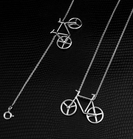 les femmes, le vélo Collier-bracelet-bicycle-st-jeweller