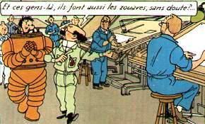 jeu d'enfant fusée de Tintin  Insultez